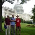 3 mężczyzn przed mauzoleum Lincolna - waszyngton