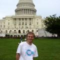 Ja przedKapitolem wWaszyngtonie