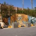 Kolorowa ściana wHurghadzie