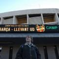 Krzysztof przedstadionem Camp Nou