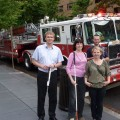 Przy wozie strażackim w waszyngtonie
