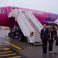 Na lotnisku - Ania, Czesław ija przedsamolotem wizzair