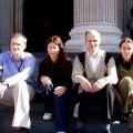 Nasza czwórka naschodach (Ania, Sandra, Czesław ija)
