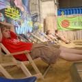 Odpoczynek należaku wcentrum Wiednia nadDunajem