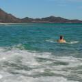 Pływam sobie wMorzu Tyrreńskim - płynę wkierunku gór