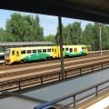 Pociąg czeski żółto zielony