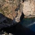Widok zgóry naBlue Grotto
