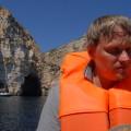 Do takiej groty zamoimi plecami wpływaliśmy - Blue Grotto