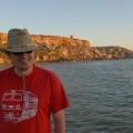 Ja w Golden Bay - zachód słońca