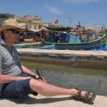 Ja wMarsaxlokk, zamną łódki kolorowe isłynny targ