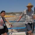 Ja zMałgosią przy plaży Melieha Bay - och jak tam pięknie wiało jpg