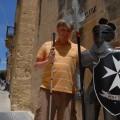 Ja zrycerzem maltańskim wMdinie