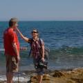 Na plaży wBugibbie - Agnieszka odwraca moją głowę